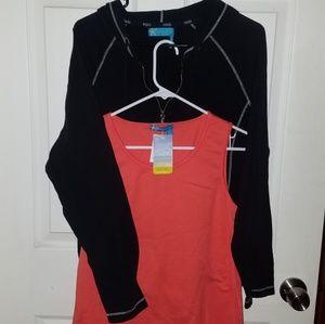 2 pieces fresh produce black jacket and shirt SZ L